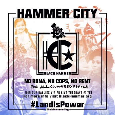 Flyer promoting Hammer City, with the hashtag #LandisPower