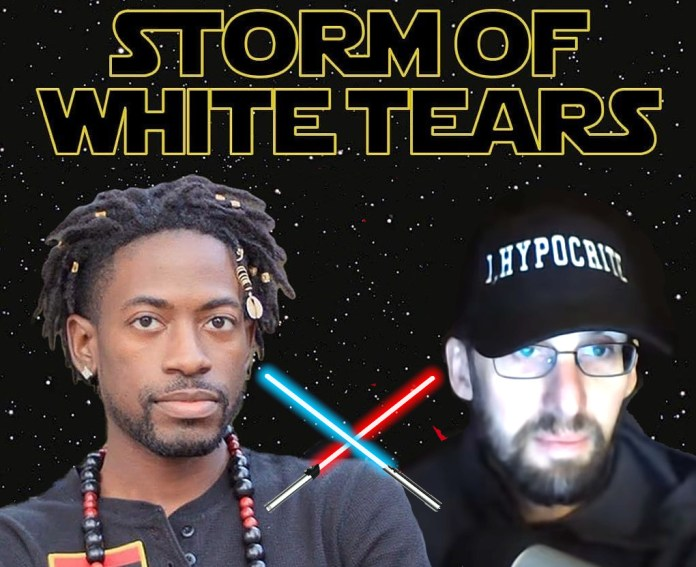 Storm of white tears with gazi and ihypocrite faces