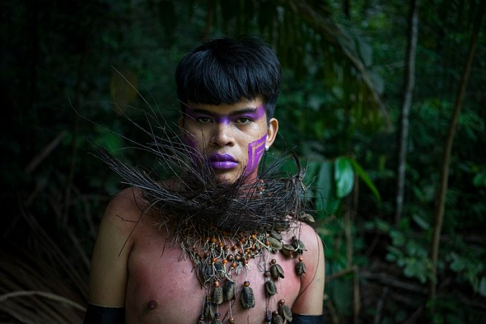 front profile indigenous person