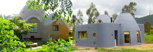 two earthbag houses