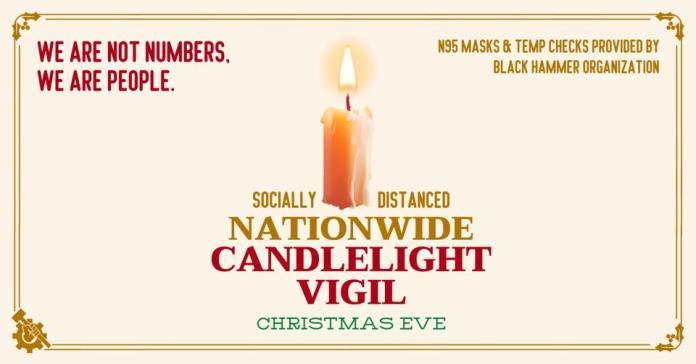 Black Hammer candlelight vigil poster