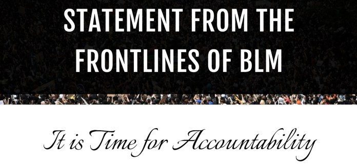 BLM statement it's time for accountability