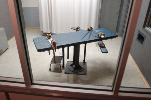 The execution table inside the Metropolitan Transition Center in Baltimore as seen in 2004 (Steve Ruark - AP)