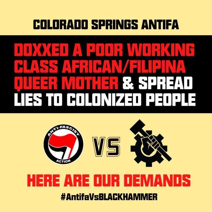 Colorado springs antifa (BHO social media post)
