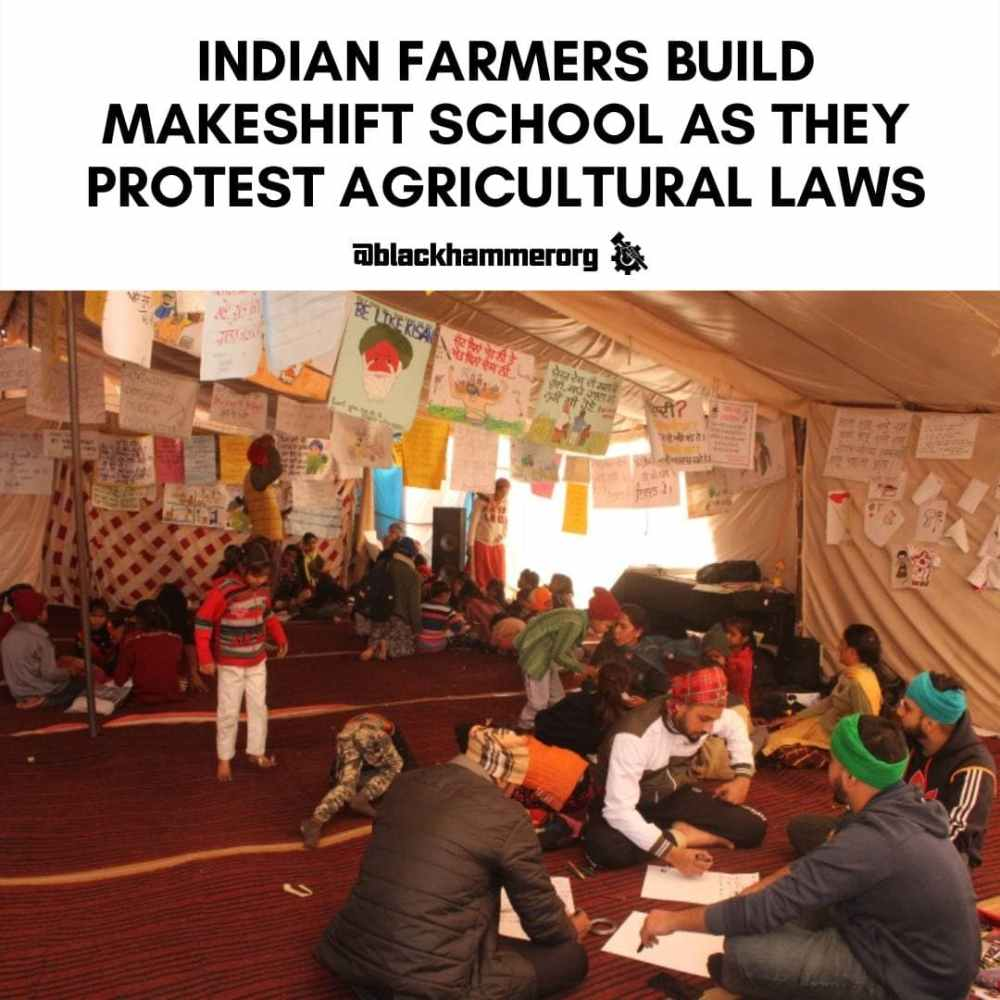Indian Farmers Build Makeshift Schools As They Protest Agricultural Laws