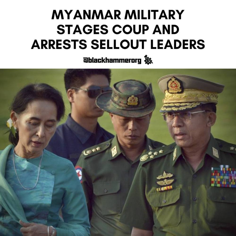Myanmar Military Coup overthrows Neocolonial Regime