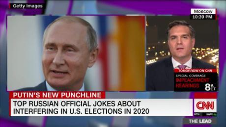 Putin jokes about dementia joe's health