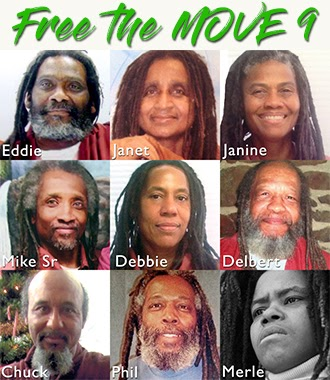 (Only 6 of the 9 MOVE members arrested in 1978 survive after four decades of torture in prison.)