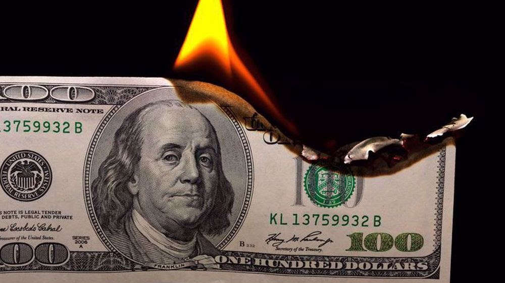 amerikkan dollar burning
