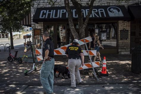 The scene of the shooting in Austin, Texas downtown area