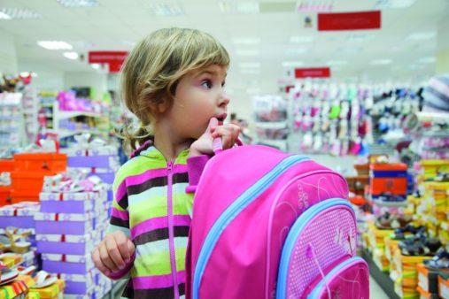 Girl shopping school