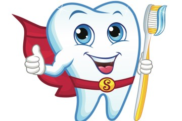 Teeth Superhero Graphic
