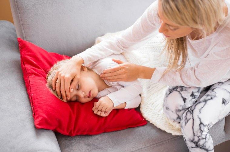 Sick Kid and Mom