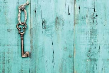 Key Blue Background