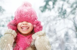 Winter Snow Girl with Hat