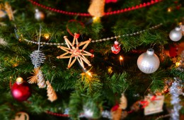Close up Christmas Tree Ornaments