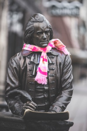 President Jefferson Statue- Downtown Clothing Drive