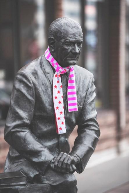 President Lyndon B Johnson- Downtown Clothing Drive