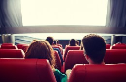 Couple in Movie Theater
