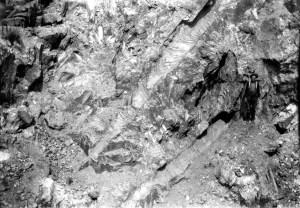 large crystals in granite