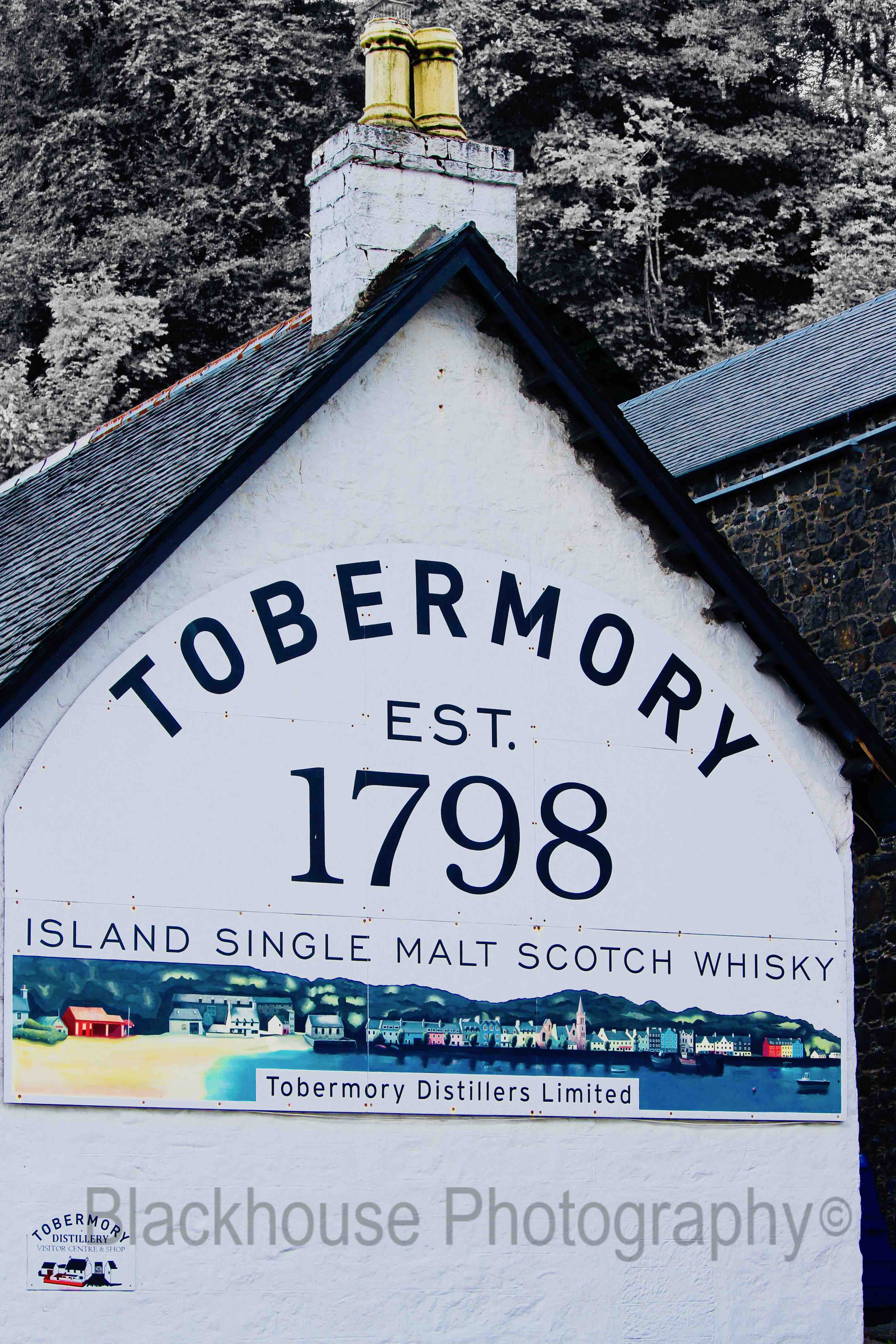 Blackhouse Photography Tobermory Distillery Scotland