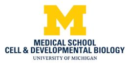 University of Michigan, Department of Cell and Developmental Biology