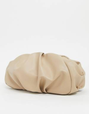 OVERSIZED RUCHED  CLUTCH BAG