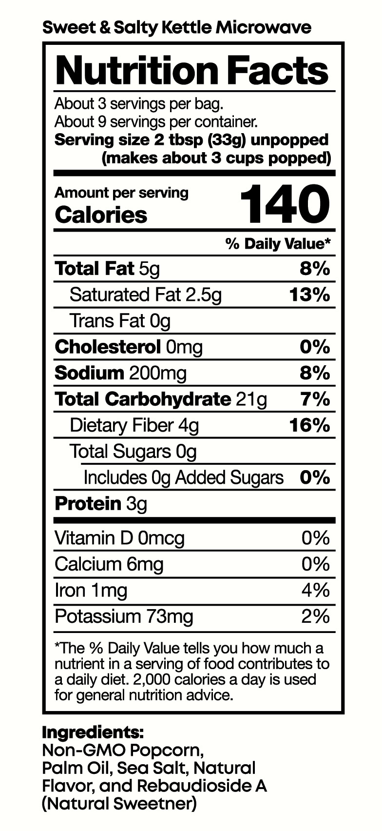 nutrition black jewell popcorn the