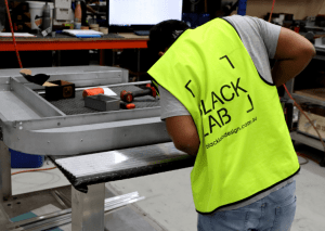 worker in assembly line
