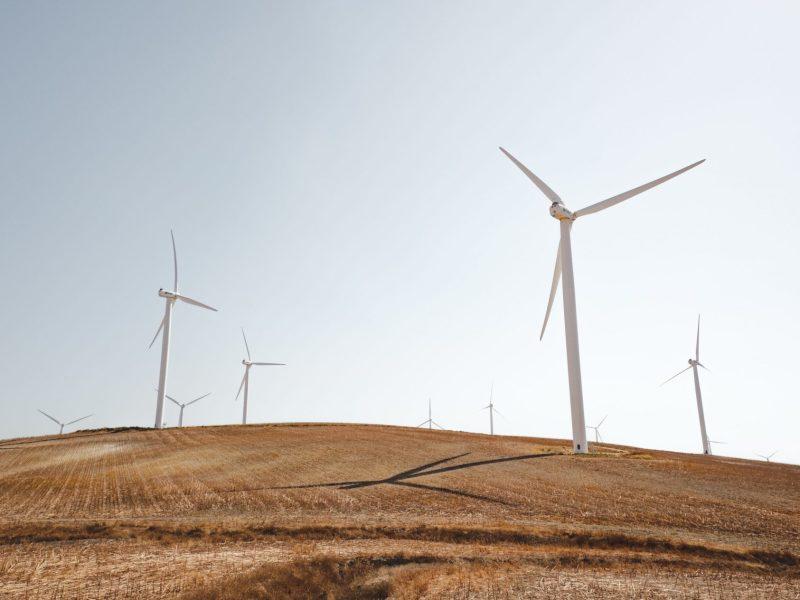 windmills on a hill