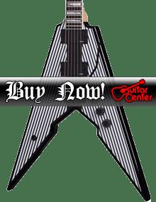Wylde Audio Viking with Floyd Rose Electric Guitar Black Pinstripes