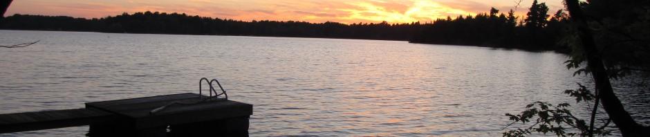 Landscape view of Black Lake, ON