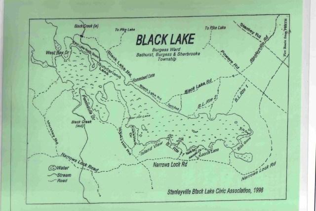 Map of Black Lake