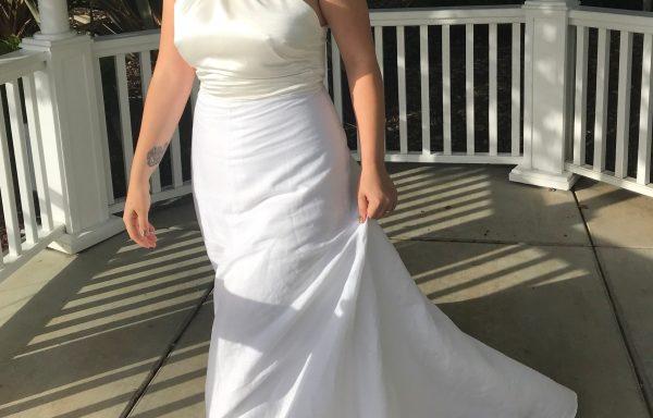 High Neck Halter Wedding Dress
