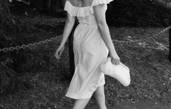 Carolina – Off the Shoulder Modest Midi Wedding Dress