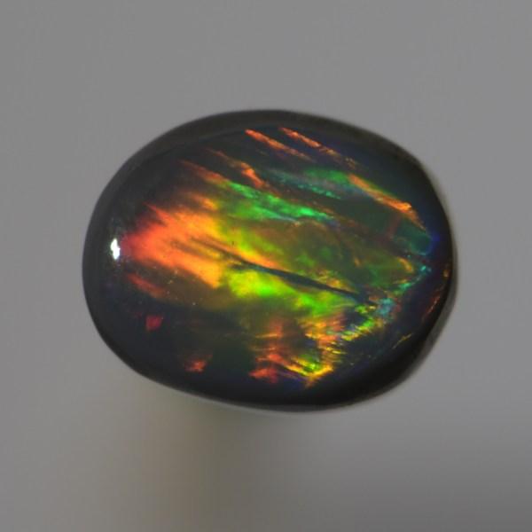 1.20 CT solid black opal from Lightning Ridge Australia
