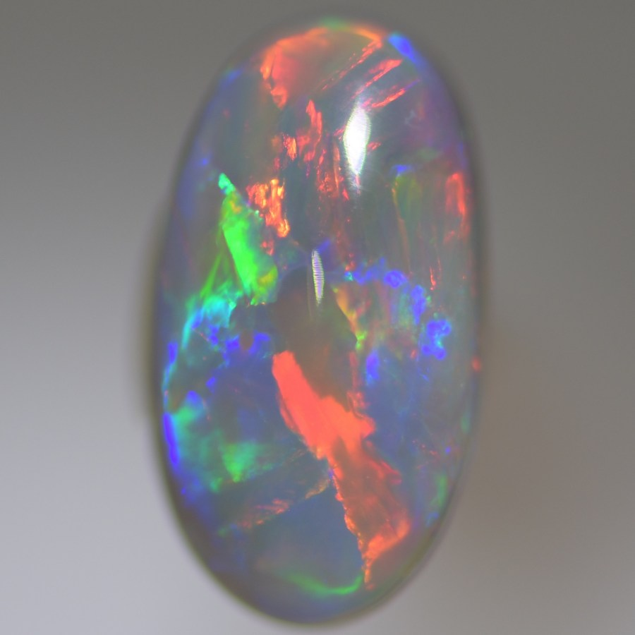 picture of purple crystal opal from lightning ridge Australia