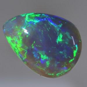cb268 crystal black opal from lightning ridge Australia