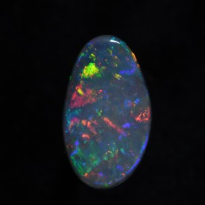 2.25 CT Solid Black Opal from Lightning Ridge Australia b804