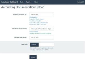 Documentation uploader