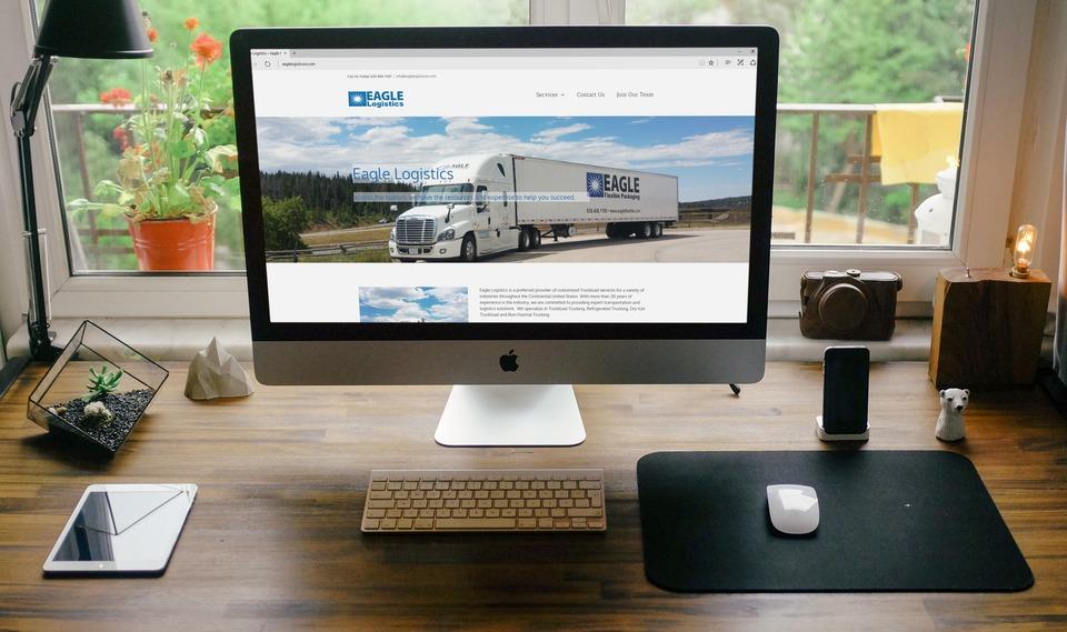 Website For Eagle Logistics - Black Line IT