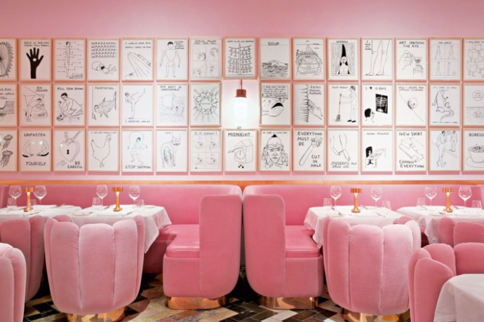 Sketch restaurant - millennial pink retail interior design inspiration
