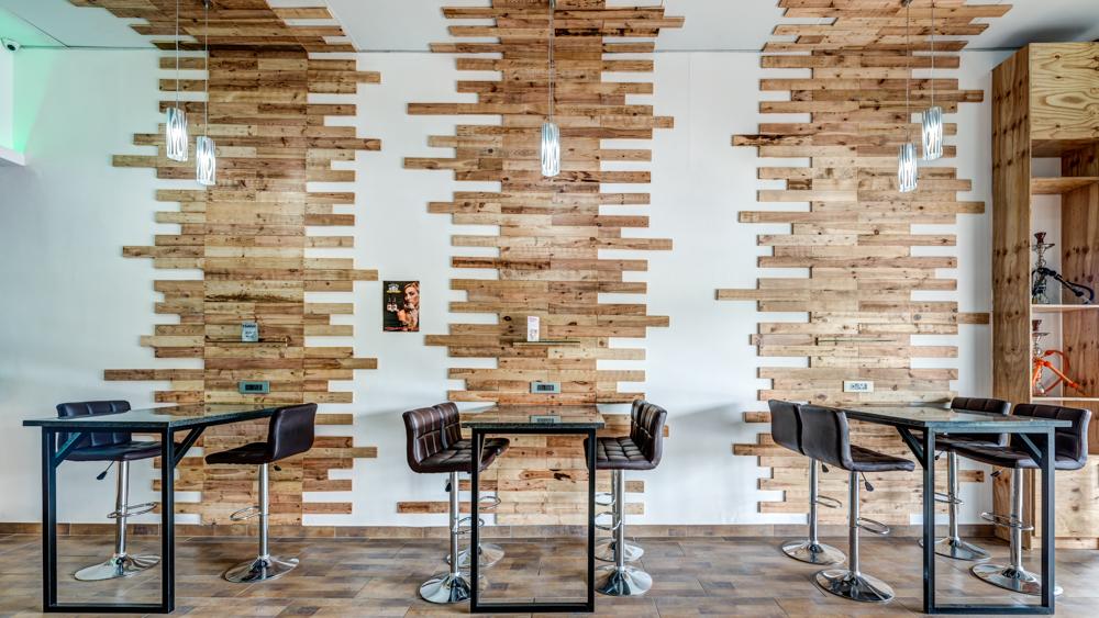 interior design of vape cafe bar in johannesburg