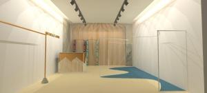 3d render interior design - boutique interior design