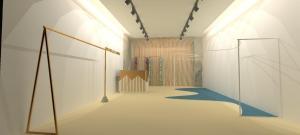 3d render interior design - retail interior