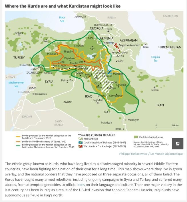 An independent Kurdistan? Source: Vox. http://bit.ly/1mf5ymr