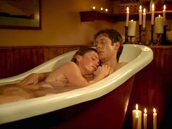 Leslie Stefanson and James Spader in The Stick Up