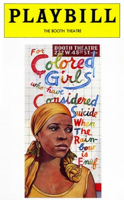 Original Broadway Playbill Cover Image: For Colored Girls Who Have Considered Suicide / When the Rainbow is Enuf