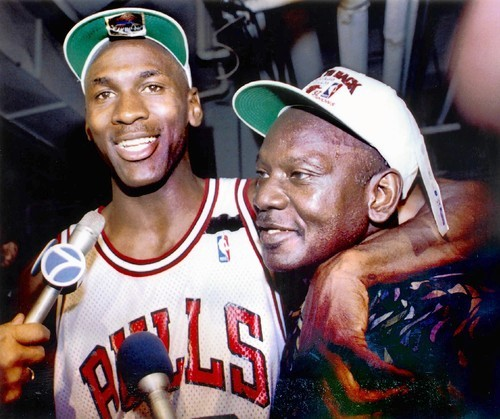 Michael Jordan and Dad