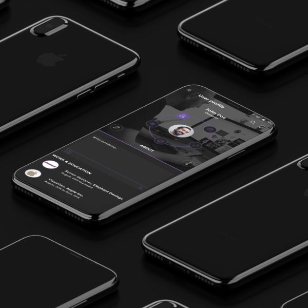Isometric iPhone 8 Mockup Vol.2 by Anthony Boyd Graphics